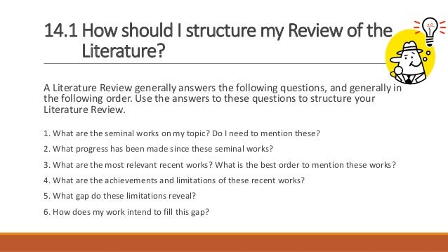 Dissertation layout literature review