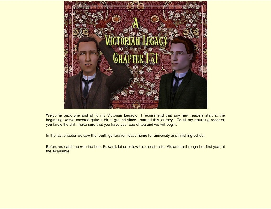 Welcome back one and all to my Victorian Legacy. I recommend that any new readers start at the beginning, we've covered qu...