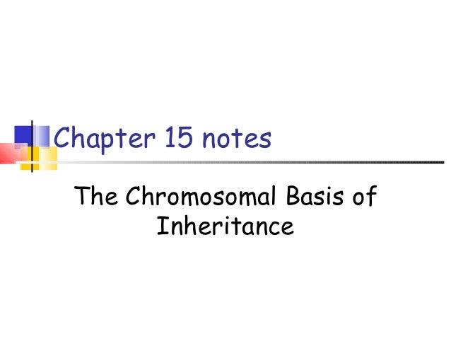 Chapter 15 notes The Chromosomal Basis of Inheritance