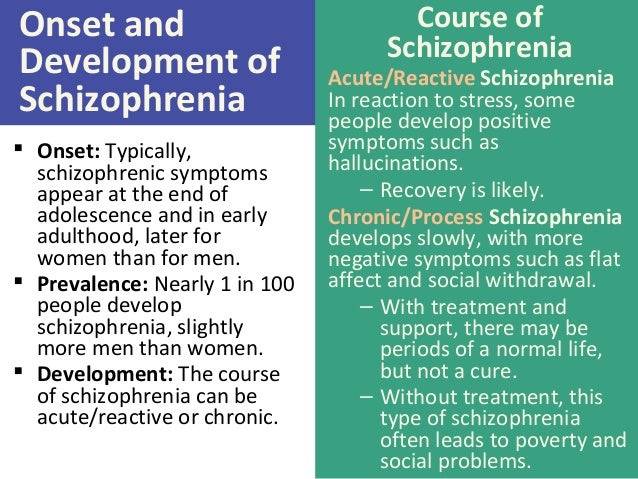 symptoms and prevalence of schizophrenia Schizophrenia today: epidemiology, diagnosis, course and models of care la schizofrenia oggi: epidemiologia, diagnosi, decorso e modelli di cura  there are about 5 million persons with schizophrenia, with a prevalence of 06-08% in 98% of cases onset occurs before  with symptoms that appear within a month, while 68% have an.