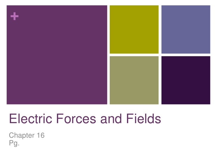 +Electric Forces and FieldsChapter 16Pg.