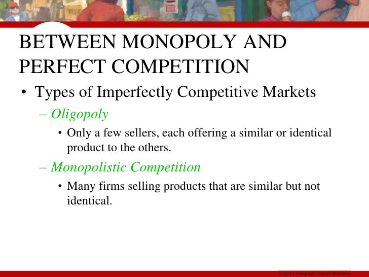 perfect competition v monopolies essay Perfect competition market in economic theory monopolies, oligopolies and the more about oligopoly versus monopoly competition essay.