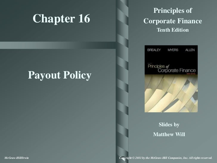 Principles of                    Chapter 16                     Corporate Finance                                         ...