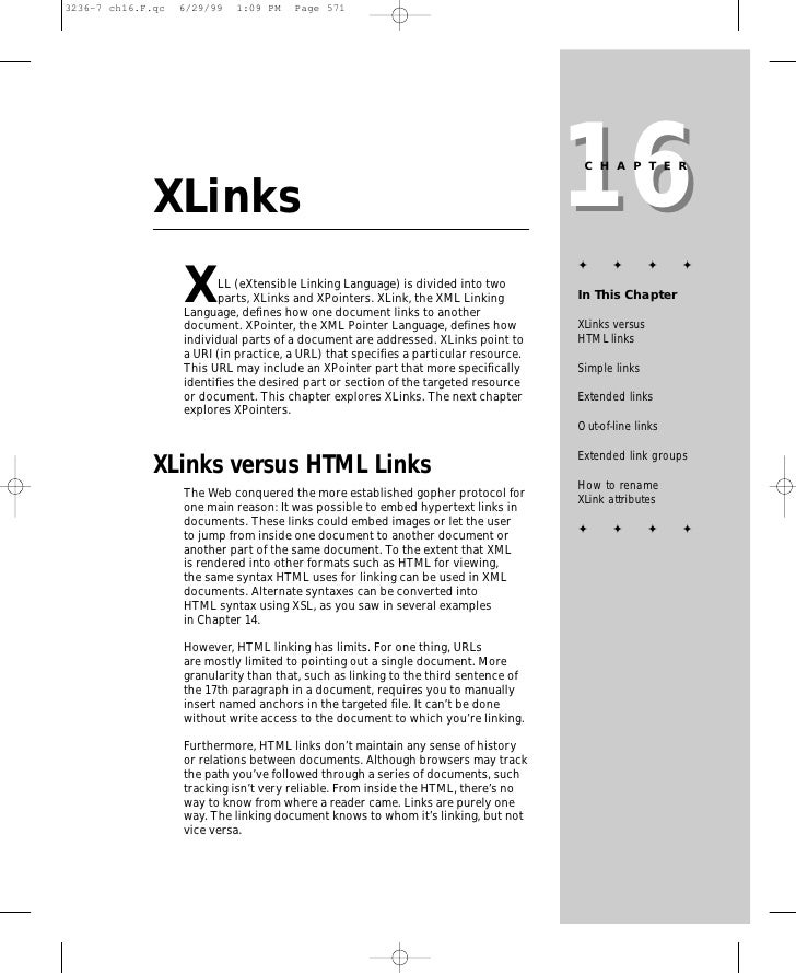 16                                                                       CHAPTER   XLinks                                 ...