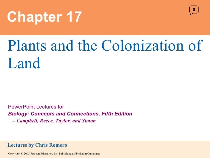 Chapter 17 Plants and the Colonization of Land 0