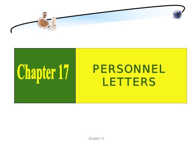 PERSONNEL   LETTERSChapter 14