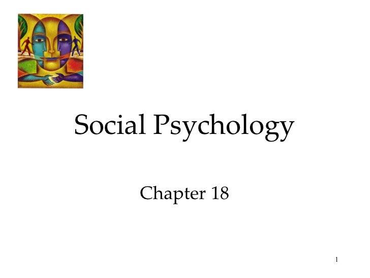 Social Psychology Chapter 18