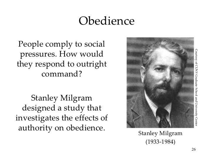 behavioral study of obedience stanley milgram Milgram stanley behavioral study of obedience  ↑ 40 41 42 43 44 45 stanley milgram, obedience to authority an experimental view (harpercollins,.