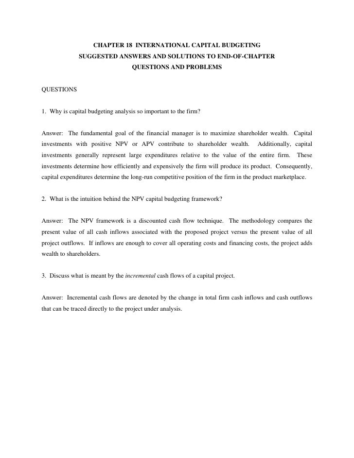Chapter18 International Finance Management