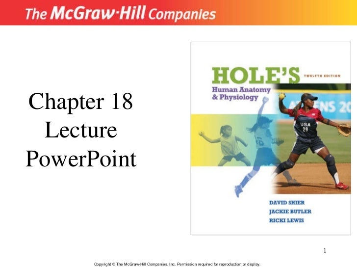Copyright © The McGraw-Hill Companies, Inc. Permission required for reproduction or display. Chapter 18 Lecture PowerPoint