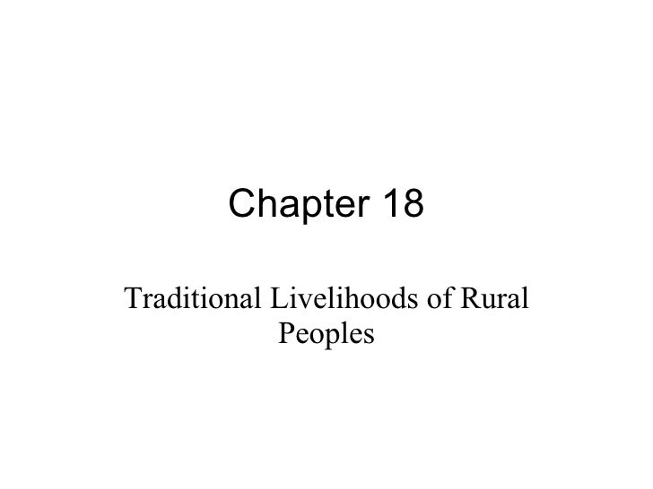 Chapter 18 Traditional Livelihoods of Rural Peoples