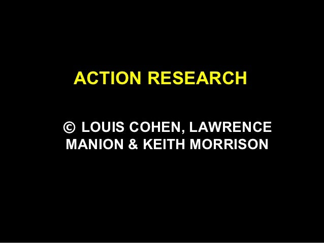 RMD 100Q Chapter18 cohen ak revised   action research
