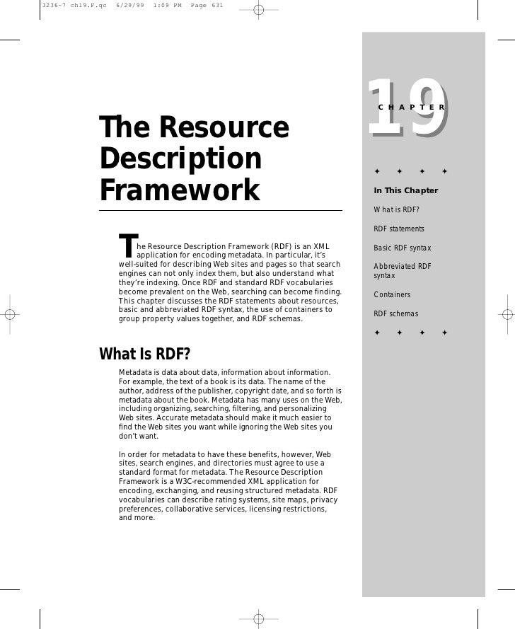 19                                                                        CHAPTER   The Resource Description              ...
