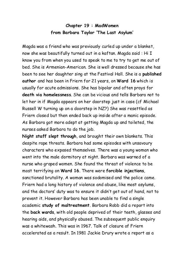 Barbara Taylor Barbara Taylor Chapter 19 '