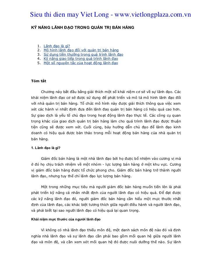 Chapter 19 -_ky_nang_lanh_dao_trong_ban_hang