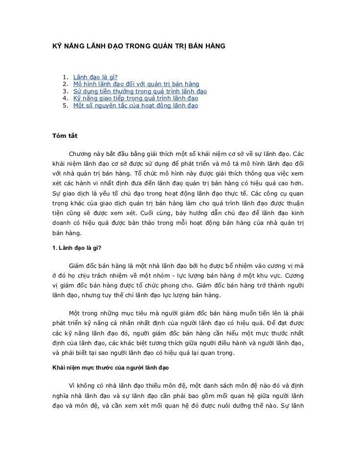 Chapter 19 __ky_nang_lanh_dao_trong_ban_hang