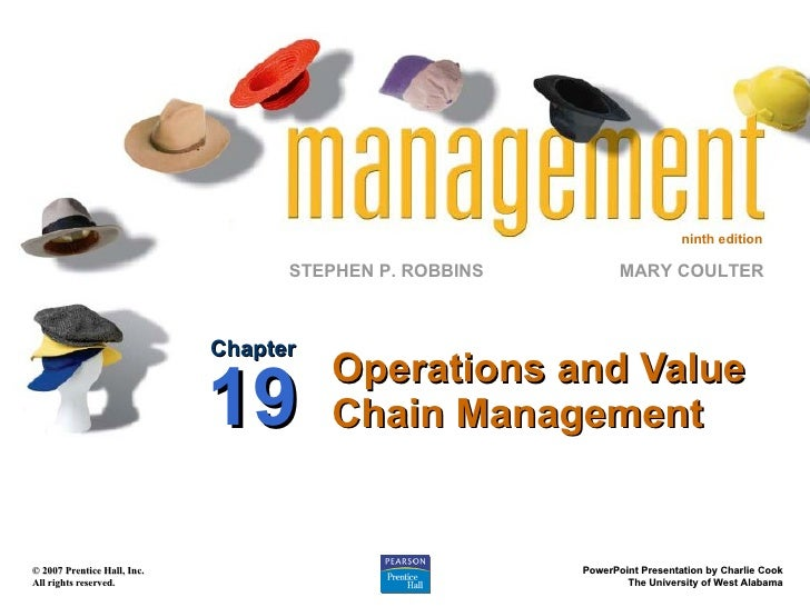 Operations and Value Chain Management Chapter 19