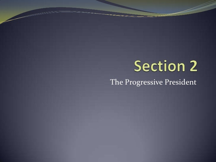 Section 2<br />The Progressive President<br />