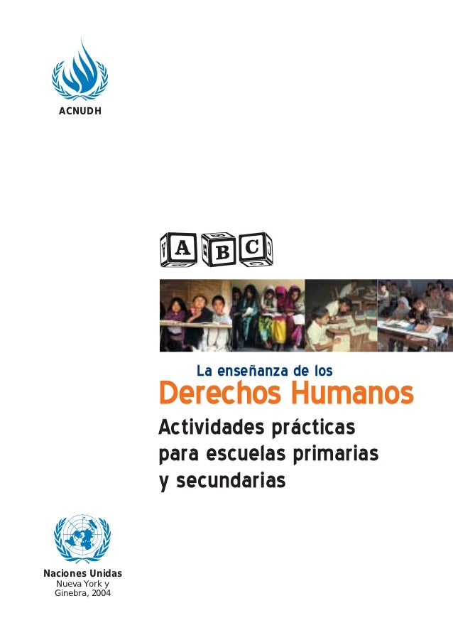 ACNUDH                  abc                     La enseñanza de los                  Derechos Humanos                  Act...