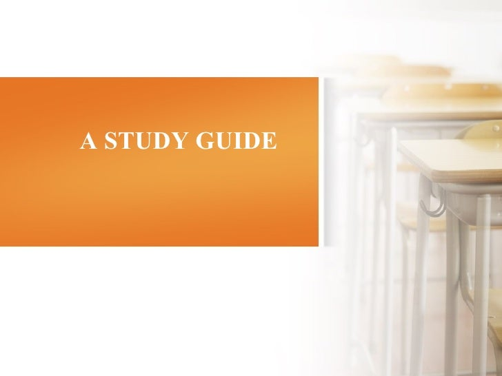 A STUDY GUIDE 由 NordriDesign 提供 www.nordridesign.com