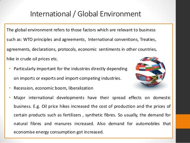 Environmental Factors Affecting International Business Essays