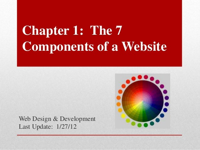 Chapter 1: The 7 Components of a Website Web Design & Development Last Update: 1/27/12