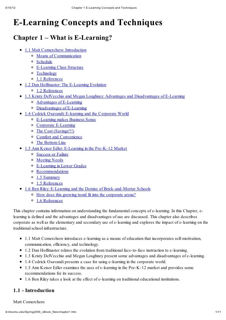 6/10/12                                       Chapter 1 E-Learning Concepts and Techniques     E-Learning Concepts and Tec...