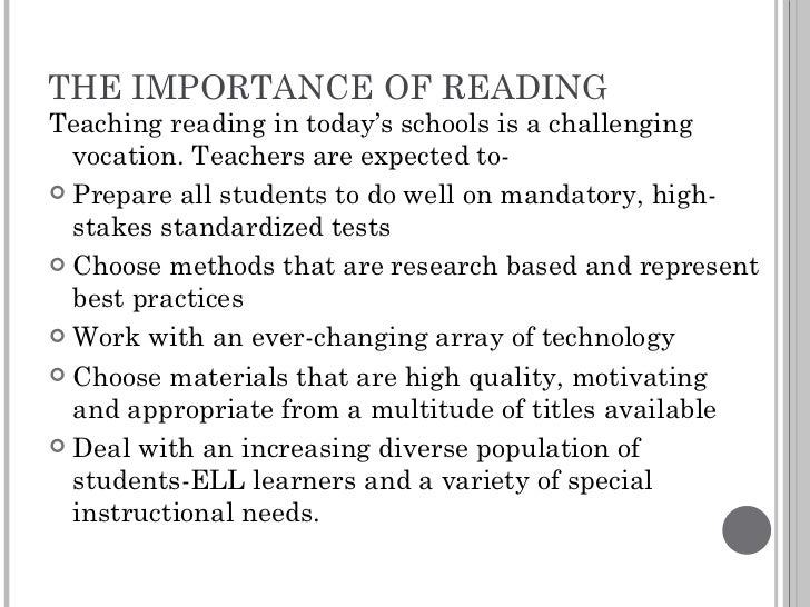 importance of reading 2 essay The role of grammar in improving student's writing by beverly ann chin professor of english university of montana grammar is the sound, structure, and meaning system of language.