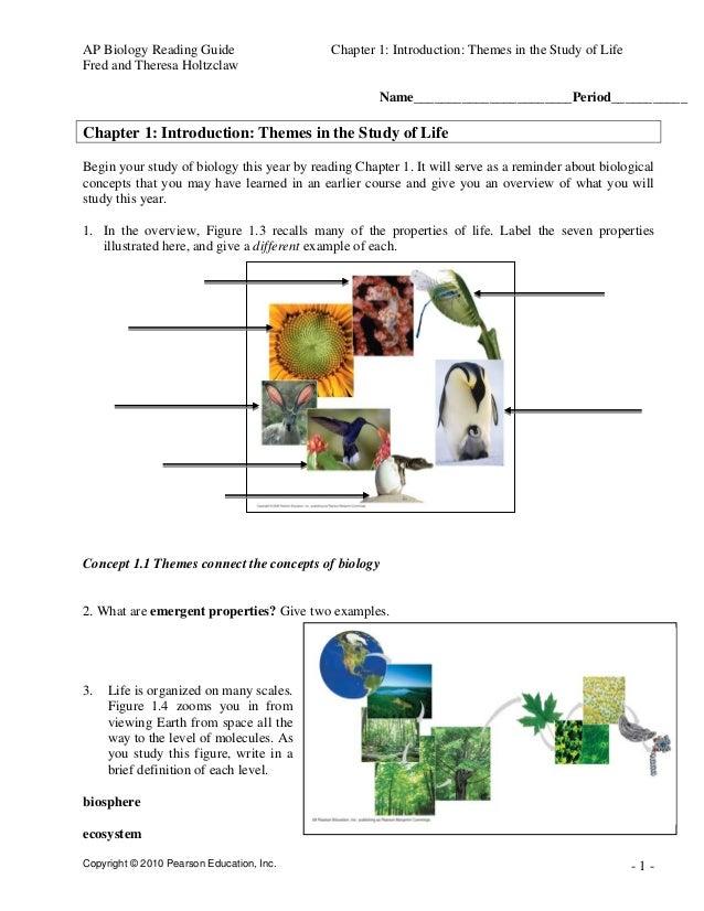 Chapter 1 exploring biology