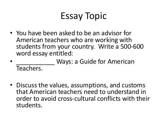 Write my intercultural communication essay