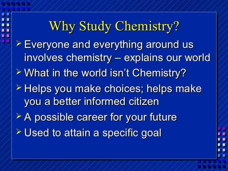 "chemistry and life essay The chemistry of life essay sample to conduct your laboratory exercises, use the laboratory manual that is available in the ""content"" section of the leo."