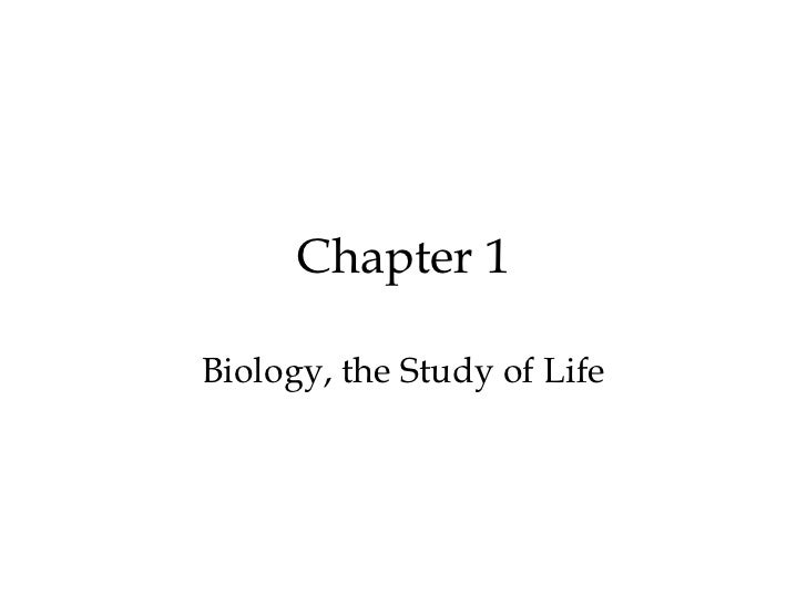 Chapter 1Biology, the Study of Life