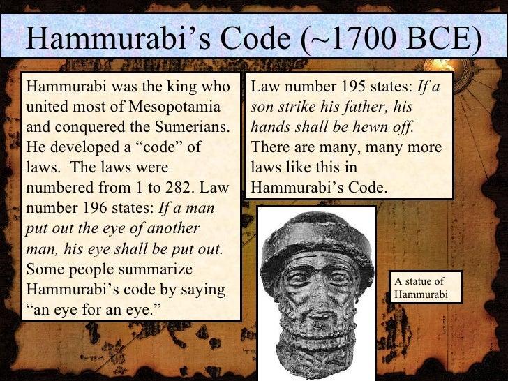 Laws of hammurabi summary