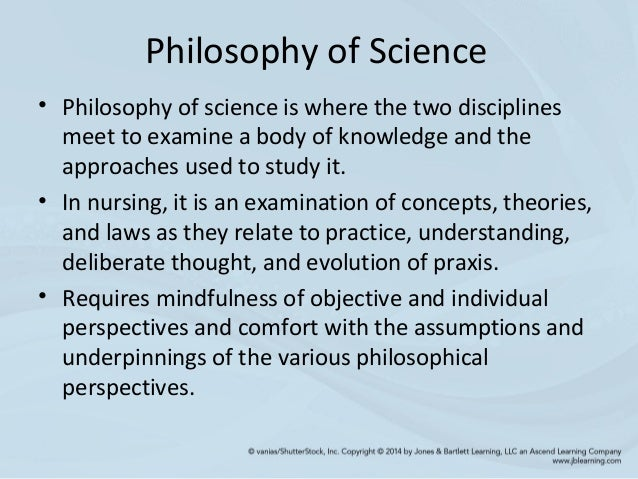 Paper on philosophy of science