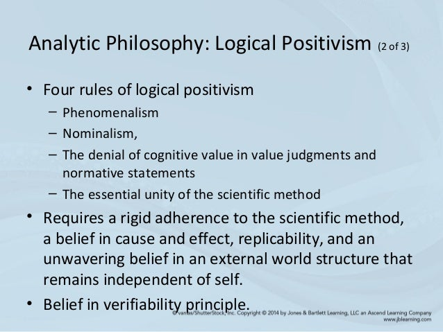 the philosophy of positivism as a normative attitude On logical positivism by susan j fleck march, 1994 during the 1920's and 1930's, logical positivism was a revolutionary and powerful force in philosophy which declared metaphysical, theological, and ethical pronouncements as lacking of cognitive meaning , and therefore beyond the boundaries of rational philosophical discussion.
