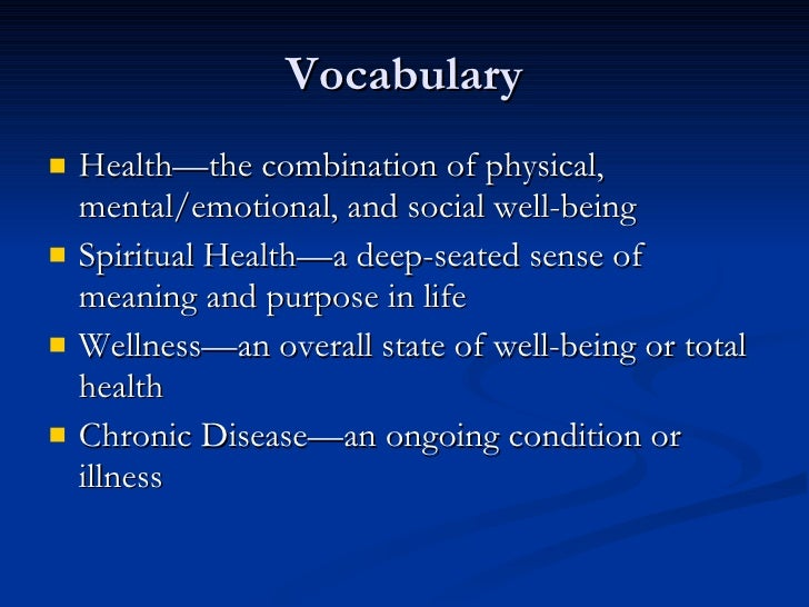 understanding health wellness and illness Health and illness: the definition of the world health organization derek yach it is a great privilege to have the opportunity to discuss who's views on health and illness at the start of this most important symposium.