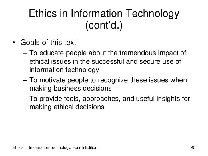 term paper topics for information technology ethics Ethics in information technology information technology essay print reference this   while there are many things to talk about ethics topics but simply contract to specific topics.