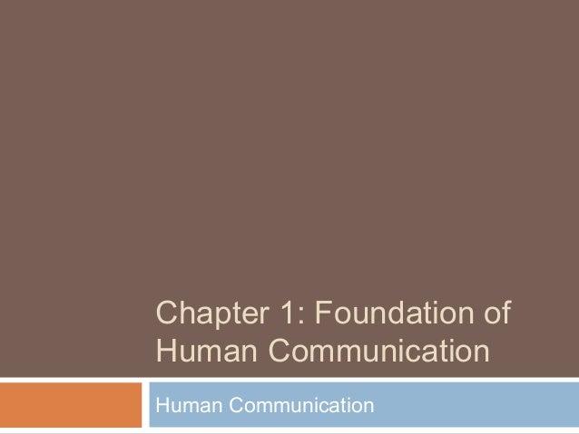 Human Comm. Chapter 1 - Week 1