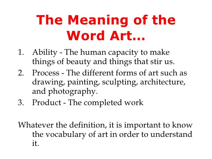 Form Definition In Art : Chapter what is art