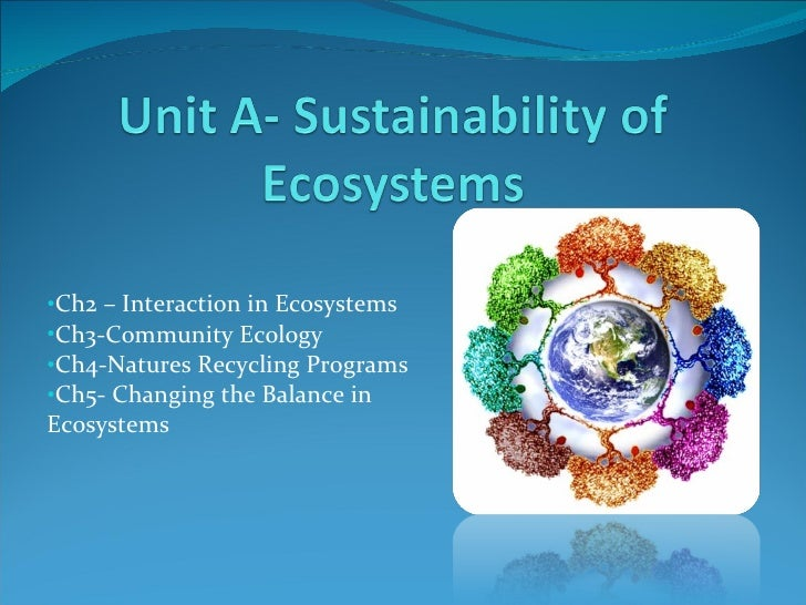 Chapter 2 - Ecosystems - Science 10E