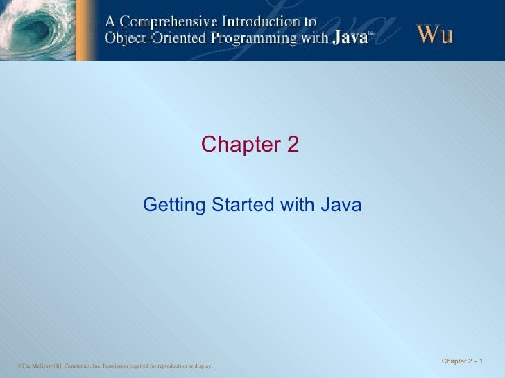 Chapter 2 Getting Started with Java