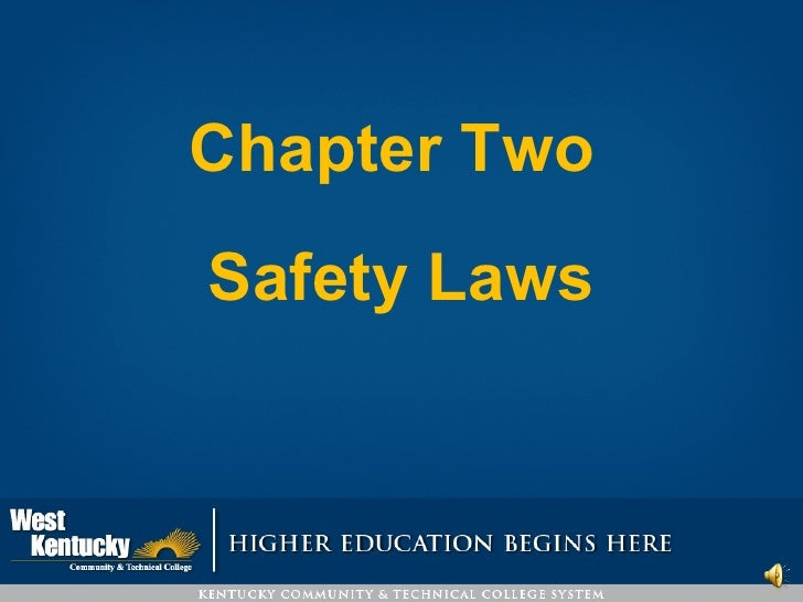 Chapter Two  Safety Laws