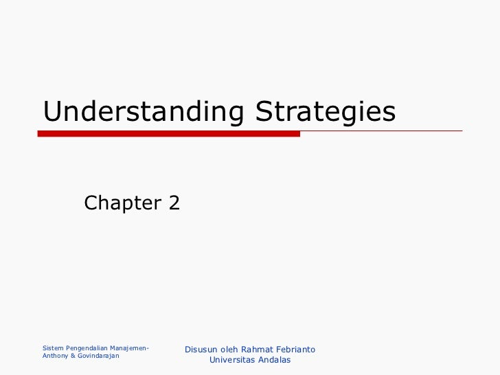 Understanding Strategies Chapter 2