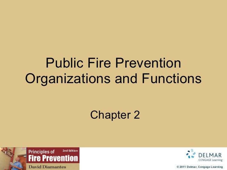 Public Fire Prevention Organizations and Functions   Chapter 2