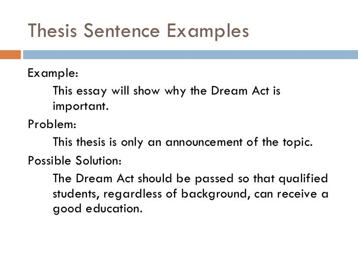 Dream Act Essay