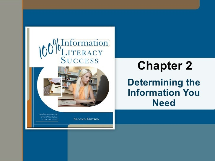 Chapter 2Determining theInformation You     Need