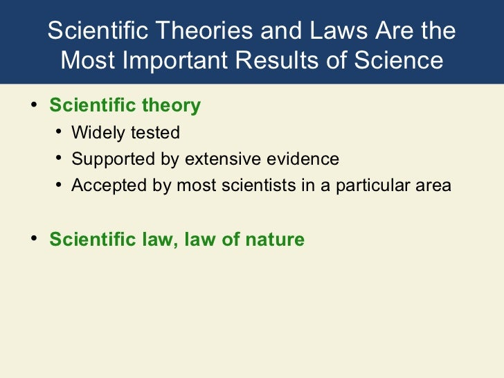 comparison of sytems and scientific theories Theories used in social work practice & practice obtained through the scientific method a theory may in the system according to this theory.