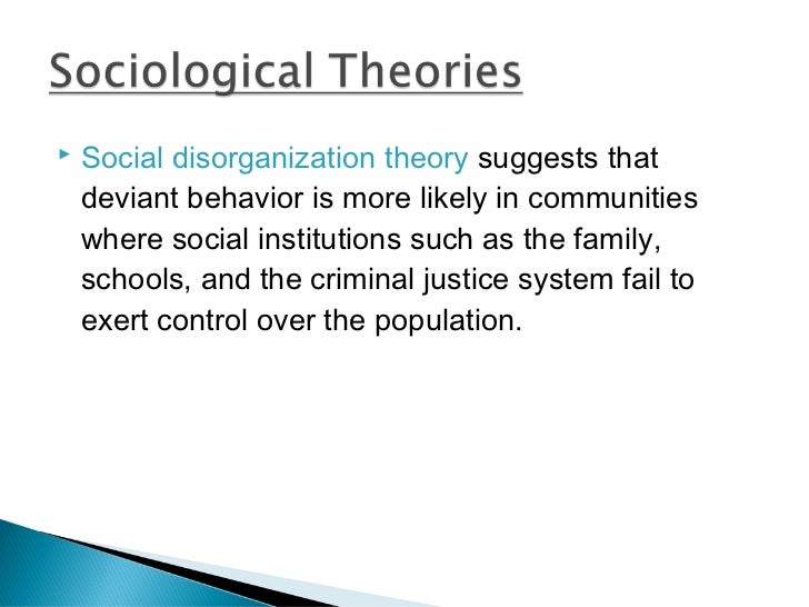 an essay on theories of deviant behavior