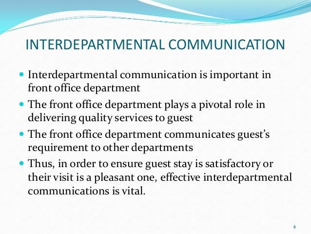 interdepartmental relationship of housekeeping