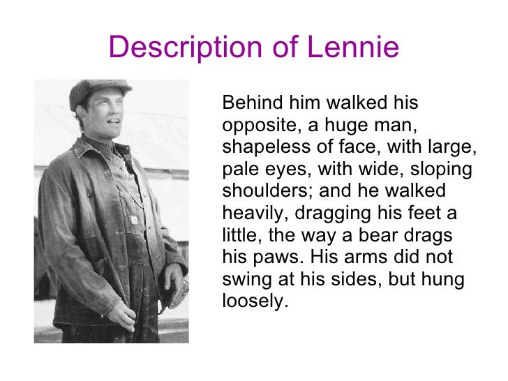 Descriptive writing of mice and men george